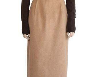 Vintage Skirt, Camel Wool Skirt, 1990s Skirt, Women's Skirt, Skirts, Camel Skirt, Beige Skirt, Women's Clothing, Classic Skirts, Cashmere