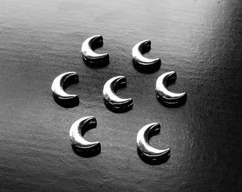 Moon Floating Charm for Floating Lockets-Silver Crescent Moon-Gift Ideas for Women