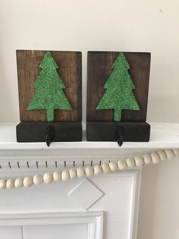rustic wood stocking holders christmas tree stocking holder
