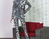"Fashion Doll Lounge Wear ""Snow Leopard"""