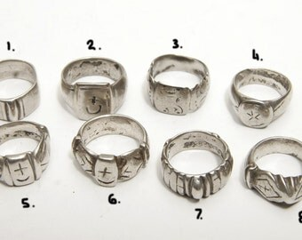An interesting collection of Berber rings, price for each