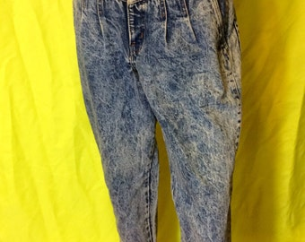 1980s Chic Acid-Washed Jeans, S-M 6-8 petite