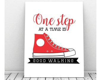 Inspirational Wall Art,  Instant Download, Inspirational Signs, Inspirational Quote, Proverb, Shoe Sign, Digital Art, Converse Sneakers
