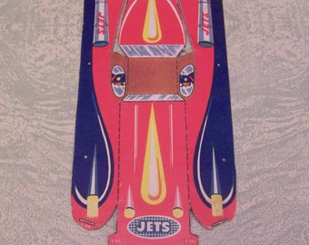 Vintage cardboard Jets toy vehicle rocket