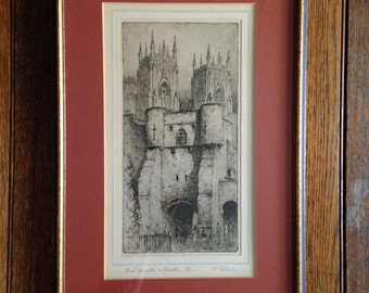 York Minster & Booth Bar Etching