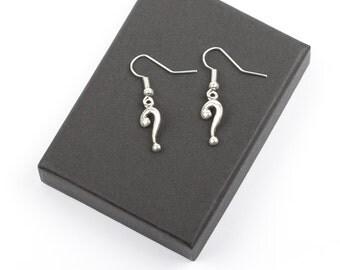 Question Mark Earrings   Punctuation Earrings   Question Mark Jewellery   Writers Jewellery