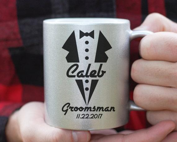 Groomsman Mug, Groomsman Tuxedo Mug, Custom Groomsman Gift, Groomsman Proposal, Best Man Gift, Wedding Party Gift, Groomsman Coffee Mug