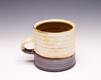 Salt Fired High-Iron Stoneware Mug - White Glaze, 0425030