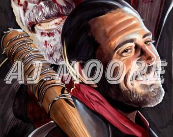 Negan - Print from Original art by Artist AJ Moore