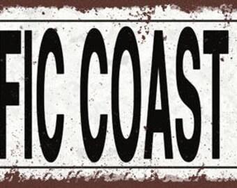 Pacific Coast Highway Metal Street Sign, Rustic, Vintage    TFD2074
