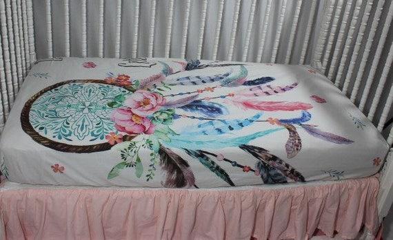 Dream Catcher Baby Bedding Dream Catcher Fitted Crib Sheet