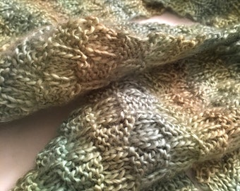 Prairie Grass Basketweave Scarf