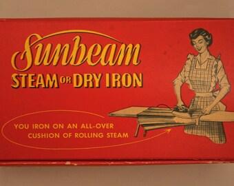 ANTIQUE SUNBEAM IRON - Steam or Dry