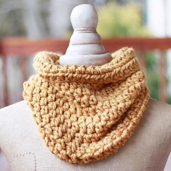 PDF Crochet Pattern ~ Cowl Scarf Pattern - Womens Teen Adult Size INSTANT DOWNLOAD