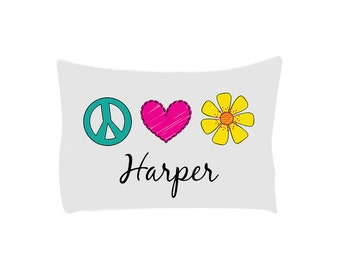 Peace Sign Pillow Etsy