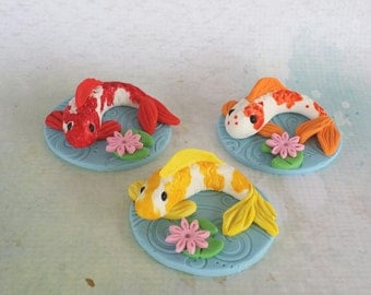 Koi fish  Fondant Cupcake Toppers