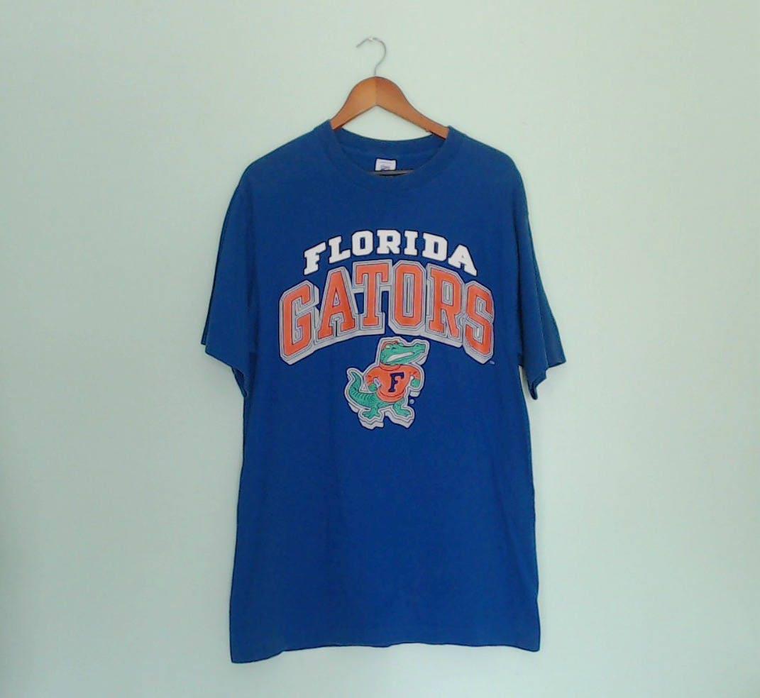 90s Florida Gators Blue T Shirt Logo 7 Size Large Mens Womens