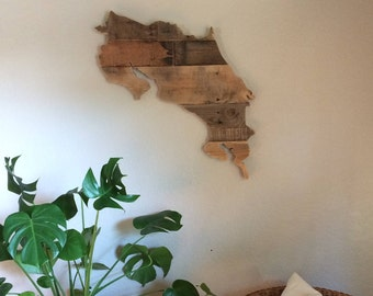 Costa Rica Wood Sign | Reclaimed Wood | Pallet Sign | Rustic Home Decor | Wall Art |