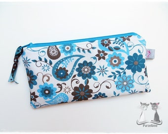 Pen-pencil cases - Paisley - turquoise Brown