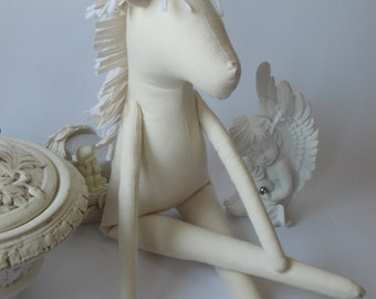 "PDF sewing pattern for Blank Doll Unicorn BODY for crafting 19.5"" (50cm ) -  DIY tutorial- ready to print for cloth doll body"