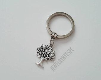 Tree Of Life Keychain, Tree Charm Keyring, Key chain,Family Tree Keychain, Birthday best friend gifts, Bridesmaid Wedding Favors Boho Tribal