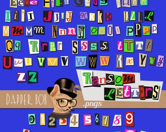 Ransom Note Cut Out Letters Clip Art PNG Collection