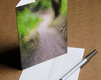 The Path Ahead blank note card or greeting card