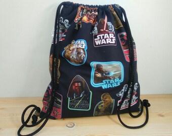 Star wars backpack,starwars bag,star wars fabric,draw string bag,strings backpack,star wars print,rogue one,empire strikes back,star wars