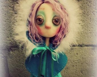 Gothic Art Doll, OOAK Handmade Dark Manor Doll: Lucille