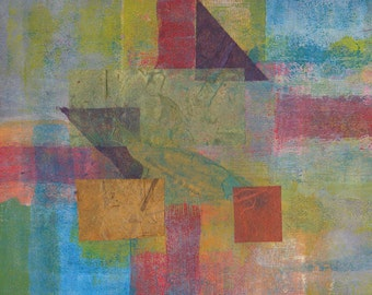 Metamorphe: Abstract mixed media collage painting