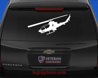 "AH-1G Cobra - ""Angle View 1"" - Vinyl Decal / Sticker"
