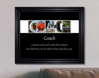 Basketball Coach Print, Coach Print, Coach Sign, Coach Gift, Basketball Coach Gift, Inspirational Quote, Basketball