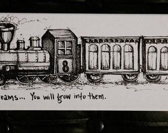 Big Dreams Train Fine Art Paper Print