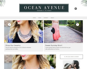 Ocean Avenue Blogger Template