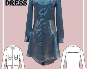Ladies Shirt Dress Sewing Pattern