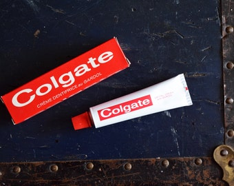 1954 Colgate Toothpaste Box with Tube & Contents