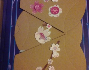 Cherry blossom pillow boxes choose 5 or 10 boxes