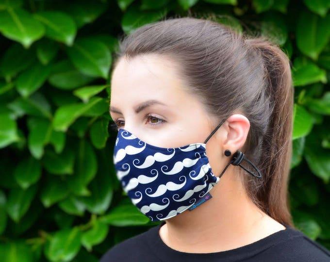 MASKERAID Moustache Reusable Cotton Face Mask