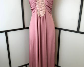 Pink Long Disco Gown, Small