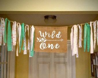 Wild One boho banner with FREE shipping and handling