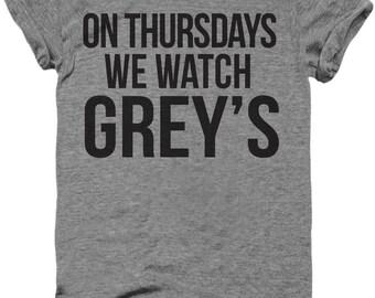 graphic tee, unisex, funny t shirt, funny t-shirt, funny sayings, On Thursdays we watch Grey's Anatomy Shirt, karev shirt, meredith grey
