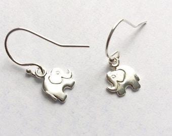 elephant earrings silver elephant earrings strength quote
