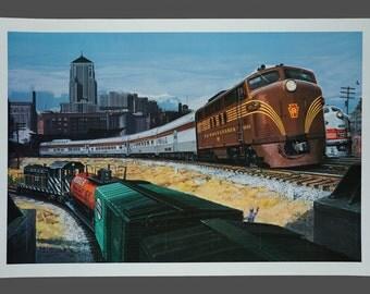 Vintage Pennsylvania 9506 Poster Railway Poster Large Size 24 x 36