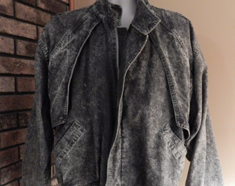 Urban Equipment 90s black acid wash jacket