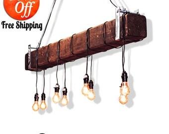 rustic lighting.industrial lighting.farmhouse chandelier.farmhouse lighting.rustic chandelier lighting.pendant lighting (Rustic Chandelier)