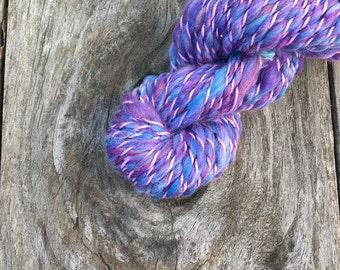 Handspun Yarn - Amethyst - Merino Wool - Purple Violet Mauve Lilac Lavender Periwinkle Plum - Worsted Weight - 48yd (43m)
