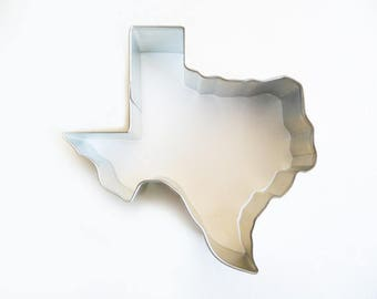 """3.5"""" State of Texas Cookie Cutter Tin Plated Fondant"""
