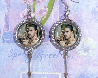 Stephen Amell Earrings 1 Pair w/ Arrow Charms
