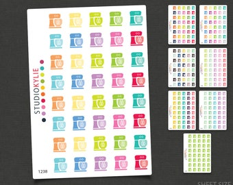 Kitchen Mixer / Baking Icons - Cooking Icons / Planner Stickers - Repositionable Matte Vinyl to suit all planners