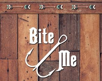 Bite Me Decal | Yeti Decal | Yeti Sticker | Tumbler Decal | Car Decal | Vinyl Decal